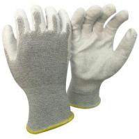 NMSAFETY factory use customized logo anti static use 13g carbon PU gloves for sale