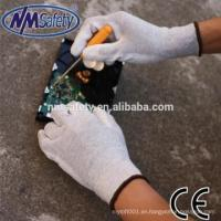 China NMSAFETY Anti Static ESD Safe Universal PU Fingertip Coat Gloves for Computer / Electronicing for sale