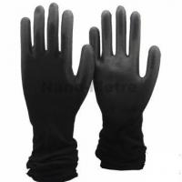 Wholesale NMSAFETY light nylon coated light black PU black serving gloves from china suppliers