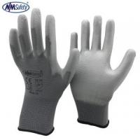 NMSAFETY new CE EN388 2016 grey nylon coated grey PU protective gloves for sale