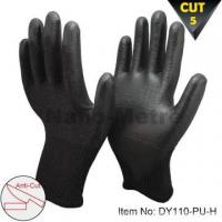 NMSAFETY 13 gauge black pu working cut gloves resistant level 5 for sale