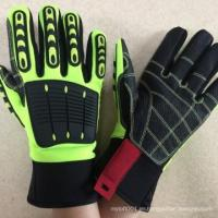 NMSAFETY Synthetic leather anti-impact sport hand protection gloves for sale