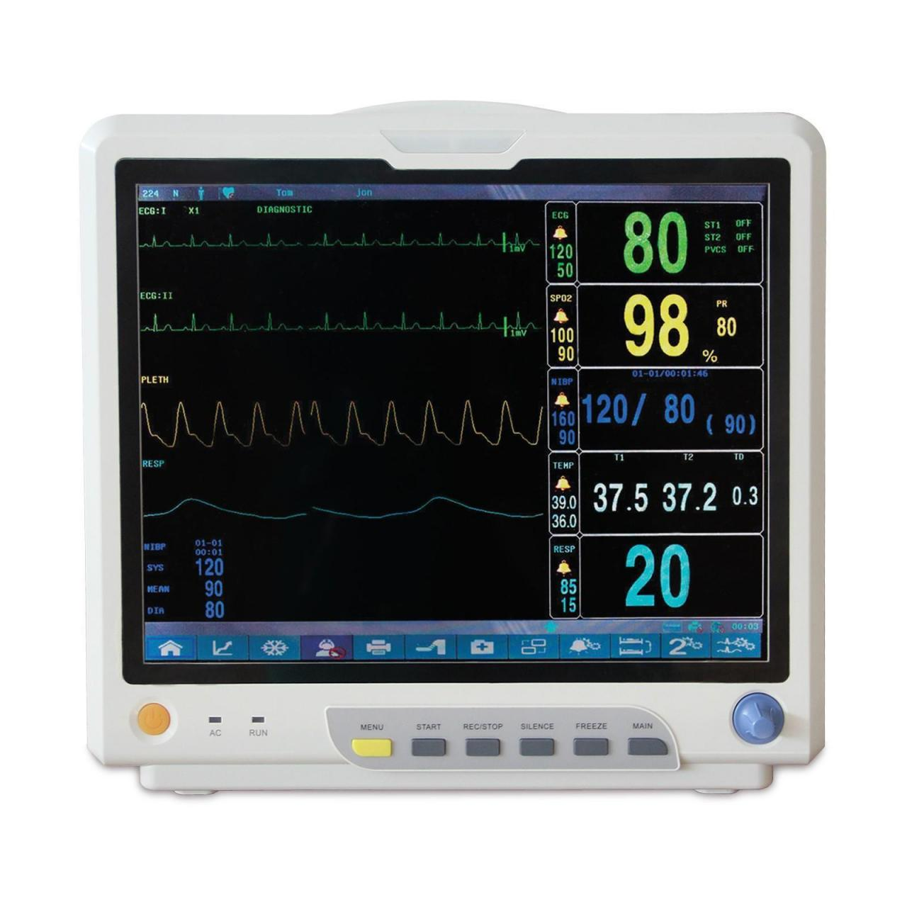 China 15 Inch Color Screen Vital Signs Patient Monitor for sale