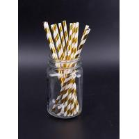 Buy cheap metallic paper straw from wholesalers