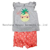 China garment series Hot sale baby short-sleeved T-shirt set with short pant on sale