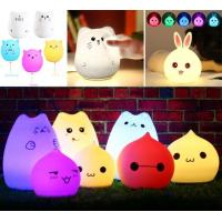 Wholesale Colorful Touch Switch Silicone Baby Night Light from china suppliers