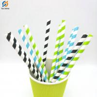 China Individual wrapped composable paper straws white paper straws on sale