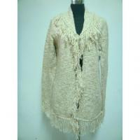 Buy cheap Ladies' sweater coat with turn-down collar from wholesalers