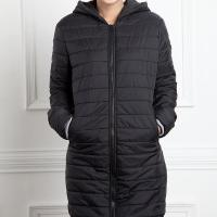 China Women's Black Hoodie Heated Down Jacket on sale