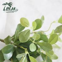 Wholesale Small 7Pcs Simulation Green Leaves Bush Plant from china suppliers