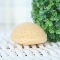 China Half ball shape - Lemon konjac sponge on sale