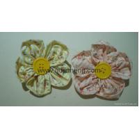 Buy cheap stuffed festival gifts strap flower made by cloth with button in middle from wholesalers