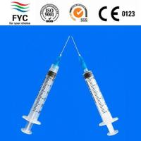 Buy cheap PP plunger syringes 3ml from wholesalers