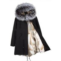 Buy cheap Real Fox Fur Detachable Lining Coat Parka from wholesalers