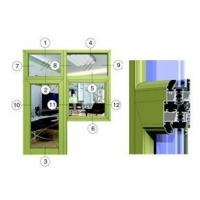 Buy cheap 55 series of energy-saving energy-saving flat system structure (door + window) (wear) from wholesalers