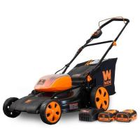 China WEN 40439 40V Max Lithium Ion 19-Inch Cordless 3-in-1 Lawn Mower with Two Batteries on sale