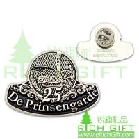 Buy cheap Silver plating badge with butterfly clutch for De Prinsengarde 25 years Souvenir from wholesalers