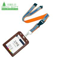 Buy cheap custom polyester printing id card holder lanyard with buckle from wholesalers