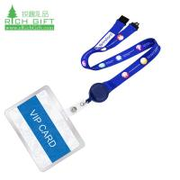 Buy cheap custom printed neck strap badge reel lanyard with plastic holder from wholesalers