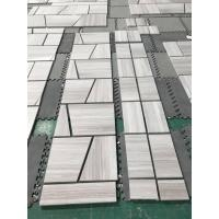China Grey Wooden Marble Special Flooring Pattern Tiles for sale