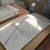 China Guangxi White Marble Polished Flooring Covering And Wall Til for sale