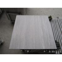 White Wooden Marble Honed Tiles With Water Proof for sale
