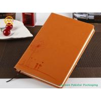 China 2019 embossed pu coated designer leather journals on sale