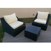 Wholesale Outsunny 3-Piece Outdoor Stacking Rattan Wicker Patio Chair from china suppliers
