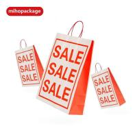 Buy cheap Stcoked Sales White Kraft Paper Bags With Handle from wholesalers